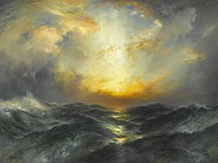 Brooklyn Museum - Sunset at Sea - Thomas Moran - overall.jpg