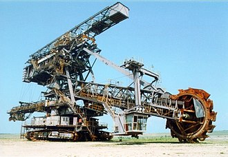 Bucket-wheel excavator - Bucket wheel excavator in Ferropolis, Germany