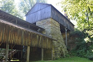 National Register of Historic Places listings in Jackson County, Ohio - Image: Buckeye Furnace from west
