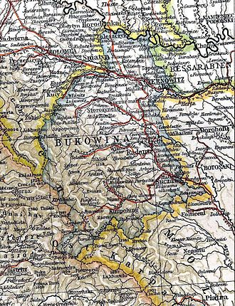 Duchy of Bukovina - Bukovina, 1901 map