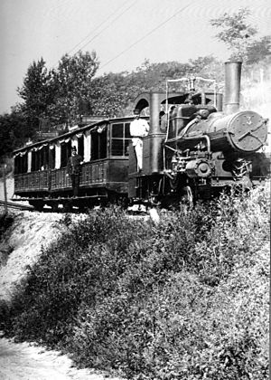 Budapest Cog-wheel Railway - The old Cog-wheel Railway in 1896