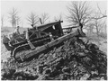 Bulldozer on pile of dirt - NARA - 286177.tif