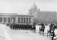 Austrian Armed Forces celebrating their 10th anniversary in March 1930 at the Viennese Heldenplatz