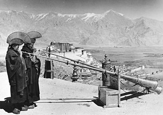 Lhasa - 1938 Lhasa with the Potala as seen from the roof of Men-Tsee-Khang or Tibetan Medical College founded by the 13th Dalai Lama