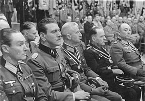 Otto Skorzeny - Skorzeny (2nd from left), 3 October 1943