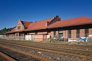 National Register of Historic Places listings in Lewis County, Washington - Image: Burlington Northern Railroad Depot