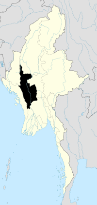 Location of Magway Region in Burma