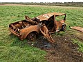 Burnt-out car, Bilton - geograph.org.uk - 1254065.jpg