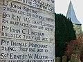 Burwash, closeup of war memorial.JPG