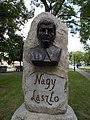 Bust of László Nagy (poet) by Venelin Antonov, Kecskemét 2016 Hungary.jpg