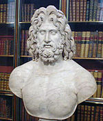 Roman marble colossal head of Zeus, 2nd century CE (British Museum)[1]
