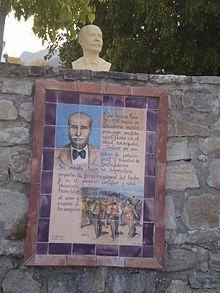 Busto de José Sánchez Rosa en Grazalema