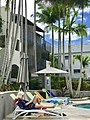 By the pool at French Quarter, Noosa Heads.jpg