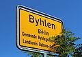 Byhlen Ortsschild 01.JPG