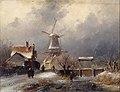 C.H.J. Leickert - Bevroren sloot met schutsluis - NK2197 - Cultural Heritage Agency of the Netherlands Art Collection.jpg