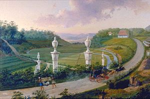 Bogor - The Great Post Road passing Buitenzorg in the 19th century
