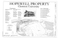 COVER SHEET, SITE PLAN AND INDEX. - Hopewell Plantation, Clemson University Campus, near intersection of Old Cherry Road and Old Stone Church Road, Clemson, Pickens County, HABS SC-873 (sheet 1 of 15).png