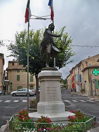 "Drummer (military) - A statue depicting André Estienne, the ""little drummer of Arcole"", in his home town of Cadenet."