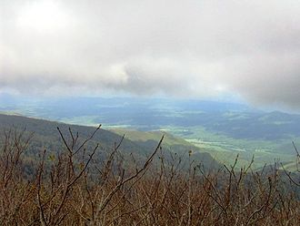 Thunderhead Mountain - The view from Rocky Top, looking northwest.