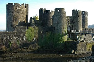 The Rebel Flesh - Caerphilly Castle, which was used as the filming location for the monastery featured in the episode.