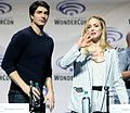 Caity Lotz and Brandon Routh at the 2016 WonderCon.jpg