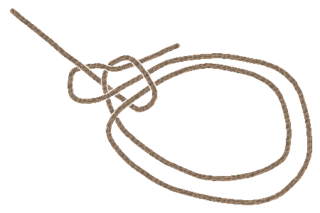 Portuguese bowline type of knot