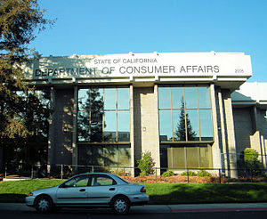 California Department of Consumer Affairs - DCA office building in Sacramento housing many subordinate entities, including the state medical and dental boards.