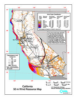 Wind power in California Electricity from wind in one U.S. state