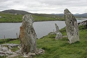 Callanish VIII - The Callanish VIII stone setting.