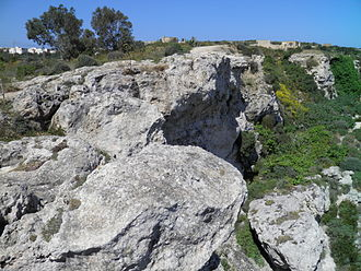 Ogygia - Calypso Cave in Xagħra, Gozo. According to Maltese tradition this was the cave of Calypso and Odysseus.
