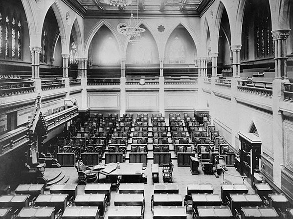 The Canadian House of Commons, 1916 Canadian House of Commons 1916.jpg