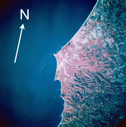 Cape Blanco from space, October 1994 Cape blanco us.png