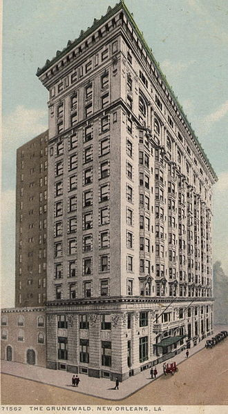 The Roosevelt New Orleans - Image: Card The Grunewald New Or