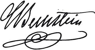 C. Bechstein - The signature of Carl Bechstein