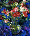 Carnations in a Round Glass Fase in front of a Blue Background Augusto Giacometti, 1918.jpg