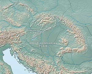 Pannonian Basin - Topography of the basin and surrounding mountains