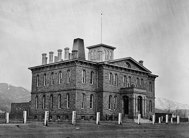 1866 photo of the historic Carson City Mint