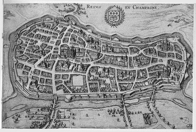 File carte de reims matthieu merian wikimedia - Carte de visite reims ...