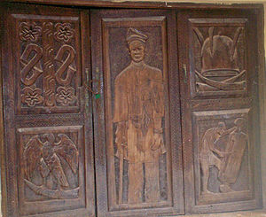 Igbo art - Contemporary carved Igbo door in Awka-Etiti