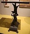 Casa di marco fabio rufo, piede di tavolo in bronzo con amorino su delfino, I secolo dc.jpg