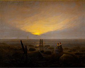 Moonrise by the Sea - Image: Caspar David Friedrich Mondaufgang über dem Meer (1821)