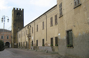 Castel Goffredo - Gonzaga-Acerbi Building and the Civic Tower.