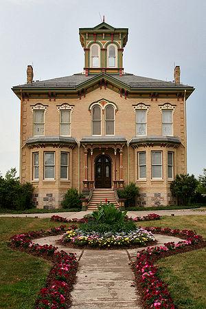 Baden, Ontario - Front facade and path to Castle Kilbride in Baden