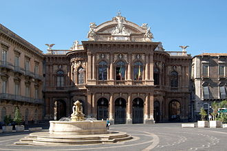 Teatro Massimo Bellini - Piazza Vincenzo Bellini and the adjoining theatre