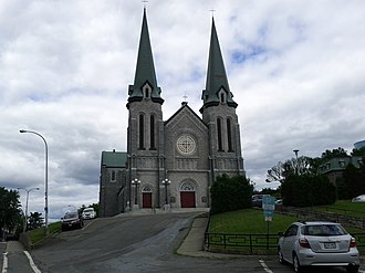Edmundston - The Cathedral of Immaculate Conception, in downtown Edmundston.