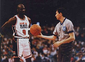 United States men's national basketball team - Michael Jordan as part of the Dream Team during the 1992 Olympics.