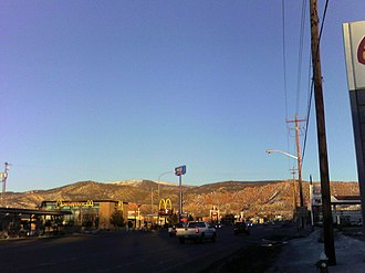 Cedar City, Utah - The mountains east of Cedar City at sunset