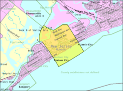 Census Bureau map of Ventnor City, New Jersey