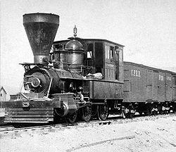 pacific railway company  De Goliah, Central Pacifi...