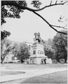 Ceremony at statue of South American patriot San Martin in Washington, D. C. President Truman was not present during... - NARA - 199739.tif